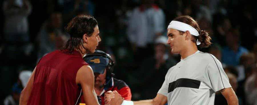 Slide Federer vs Nadal I
