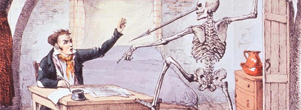Extracto de La muerte encuentra a un autor escribiendo sobre su vida