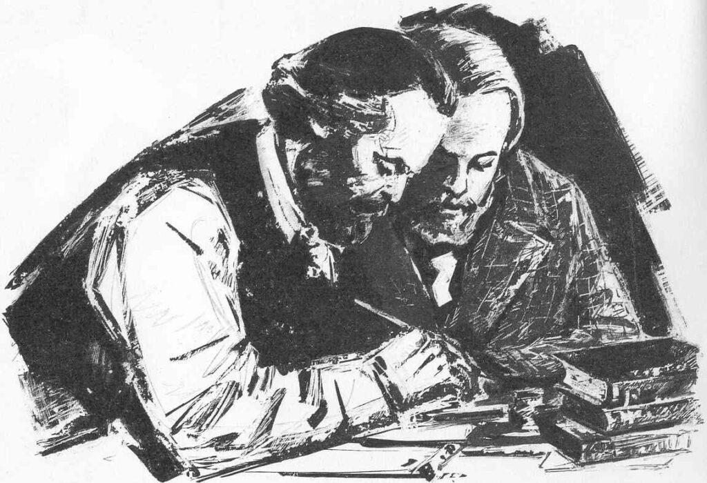 Marx y Engels ilustracion