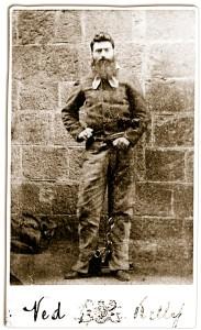 Ned Kelly antes de ser ejecutado
