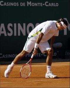 Roger Federer desesperado