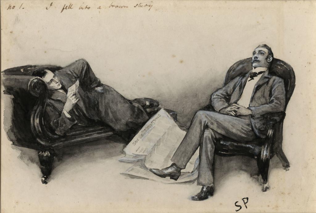 Sherlock Holmes y Watson - Sidney Paget