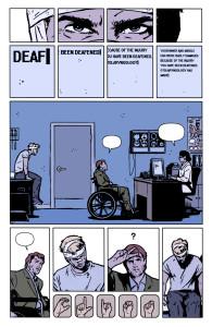 Clint Barton y el lenguaje de signos