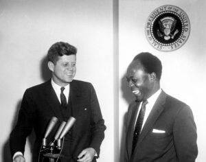 Kennedy with Kwame Nkrumah