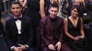 Ronaldo y Messi en el Balon de Oro