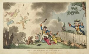 Cruikshank - Napoleon Blowing Up His Comrades