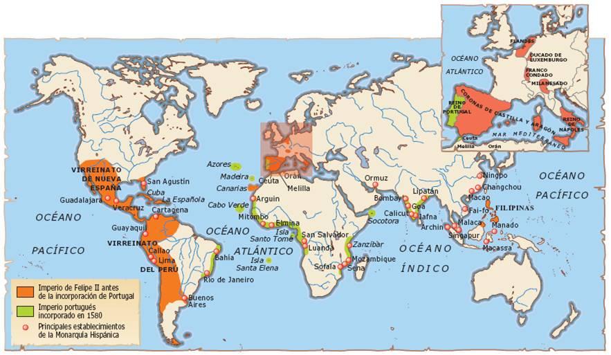 El imperio de Felipe II