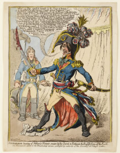 Gillray - Napoleon Raging