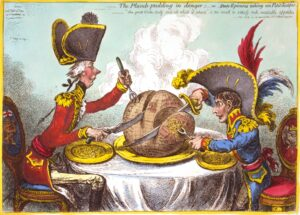 Gillray - Plumb-pudding