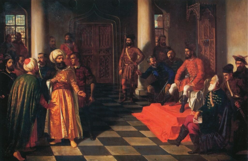 Vlad el empalador y los enviados turcos