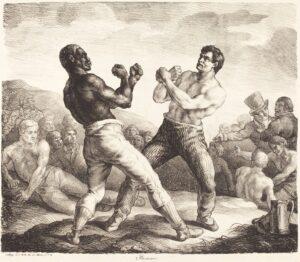Los boxeadores de Theodore Gericault