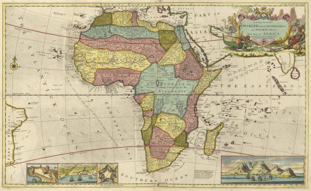 Mapa de Africa de 1710