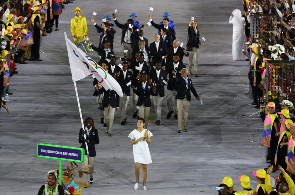 Desfile del Equipo Olimpico de Refugiados