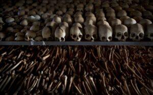 Craneos del genocidio de Ruanda