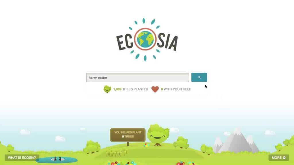 Pagina Ecosia