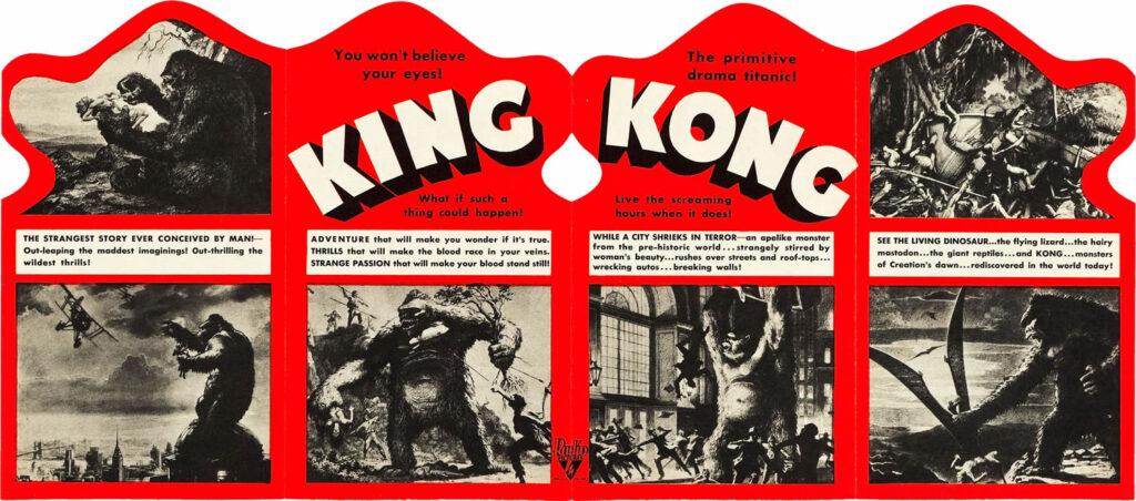 King Kong anuncio pelicula