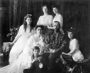 Nicolas II con su familia