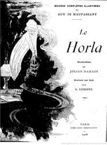 Portada El Horla francesa libro