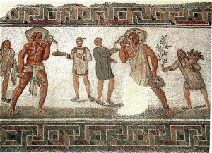 Fresco romano esclavitud