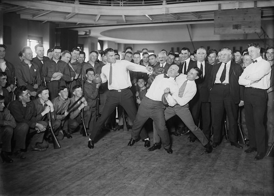 Jack Dempsey y Houdini