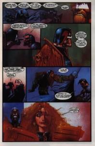 Batman y Dredd discuten