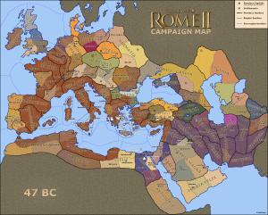 Total War Rome II Map