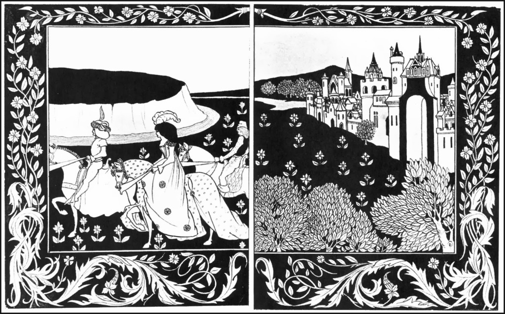 Aubrey Beardsley - Guenever rode on maying with knights