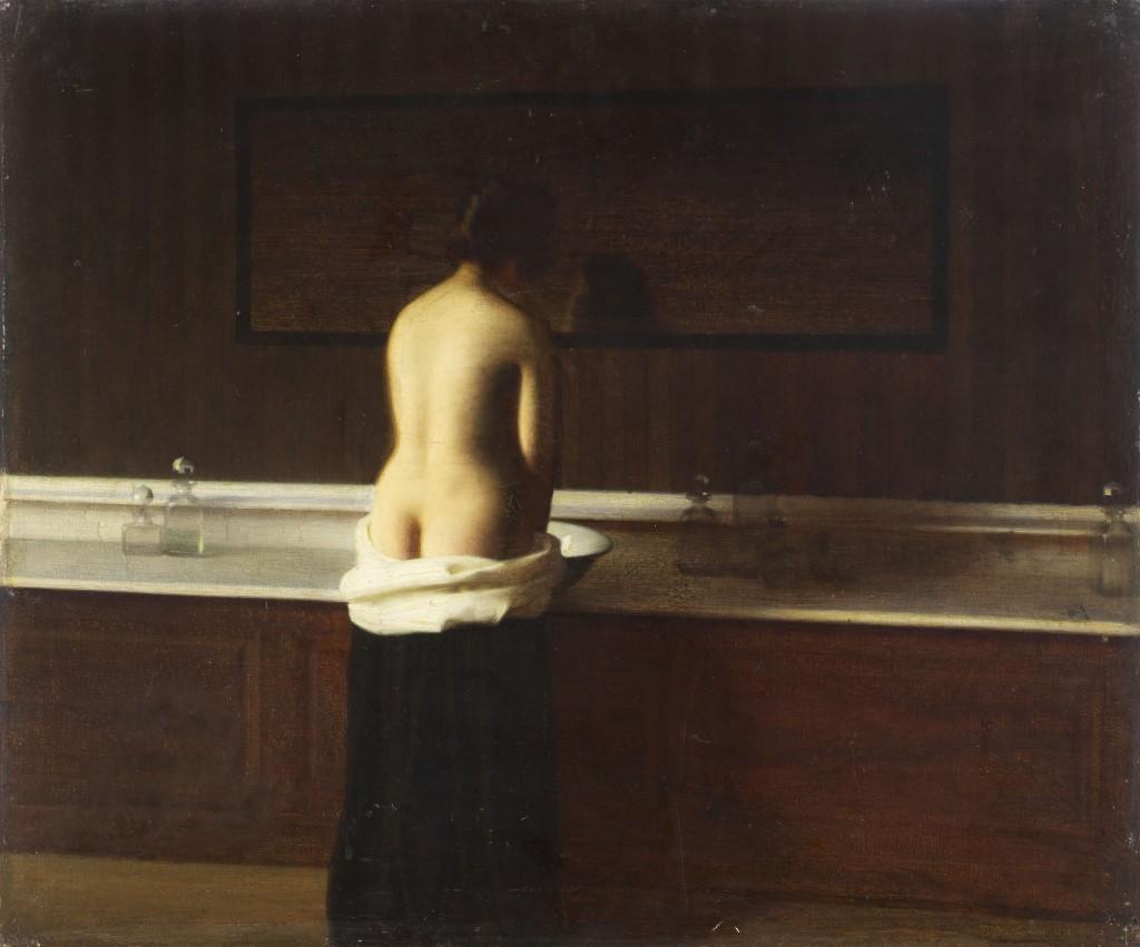 Eugène Lomont – Jeune femme à sa