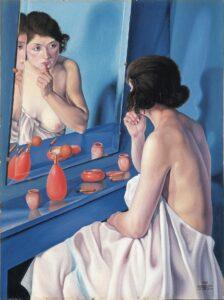 Natalino Bentivoglio Scarpa - Femme au miroir