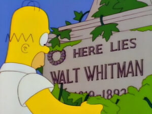 Los Simpsons y Walt Whitman