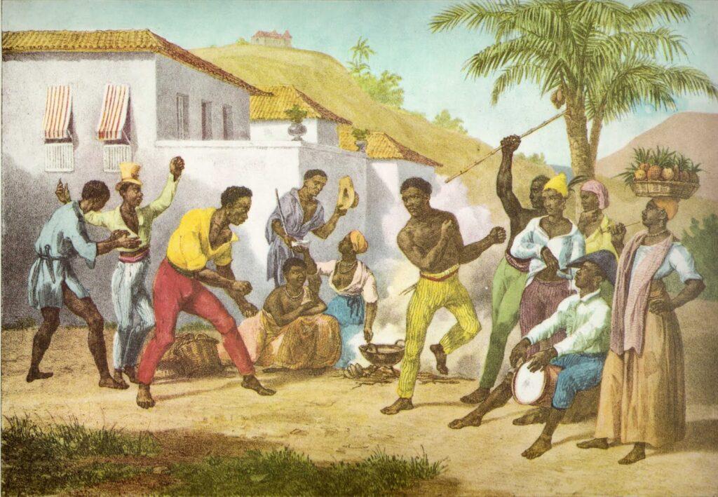 Capoeira or the Dance of War by Johann Moritz Rugendas