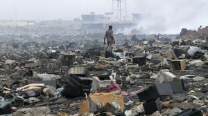 Imagen de vertedero en Ghana