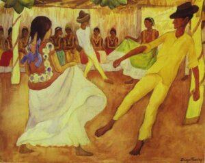 Baile en Teuantep - Diego Rivera