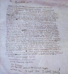 Carta suicidio Kurt Cobain