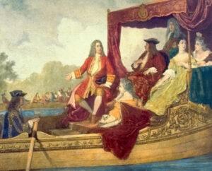 Jorge I y Handel por Hamman