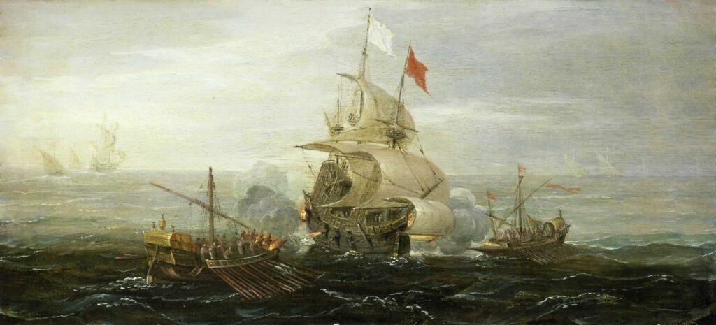 barco-frances-atacado-por-barcos-berberiscos