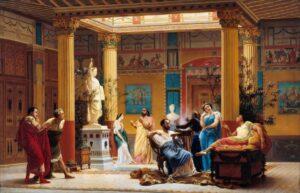 Ensayo en el atrio por Gustave Boulanger