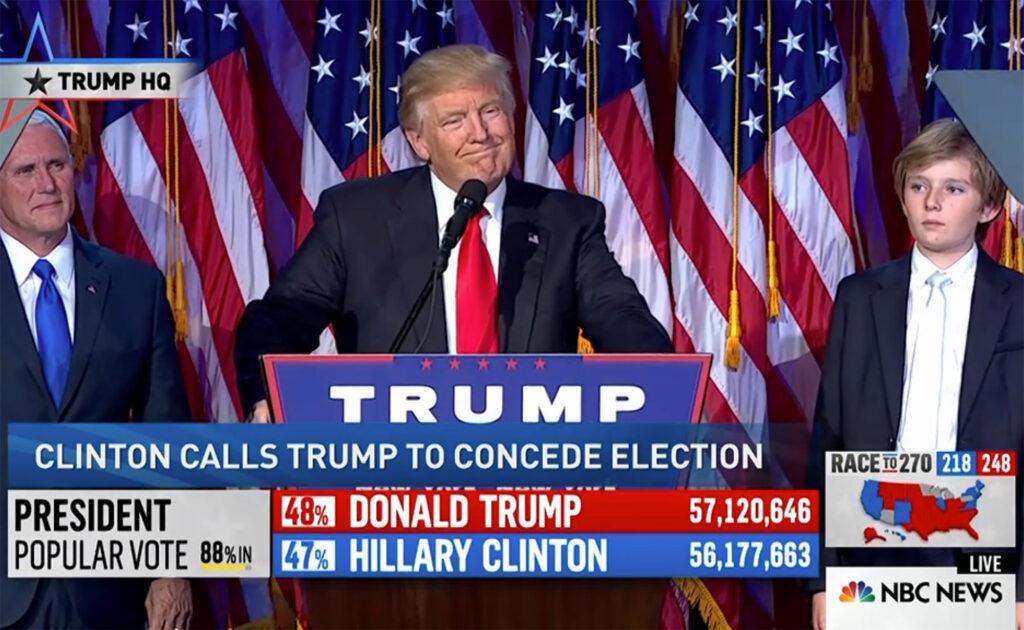 Discurso de la victoria de Trump en NBC