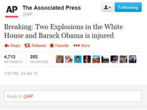 Fake Tweet Barack Obama Accident AP