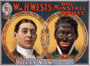 Anncio de un monologuista con Blackface