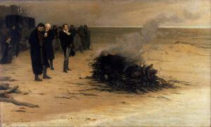 El funeral de Shelley por Fournier