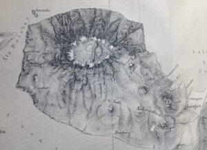 Mapa del crater del Tambora