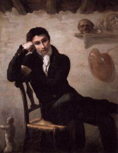 Retrato de un artista en su estudio por Gericault