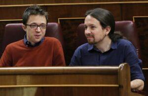 Errejon y Pablo Iglesias en el Congreso