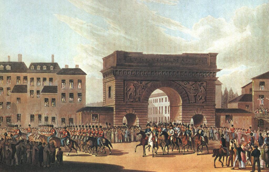 Soldados rusos entrando en Paris